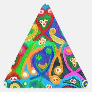Adesivo Triangular Dança do ESPERMA - imaginação sensual do artista
