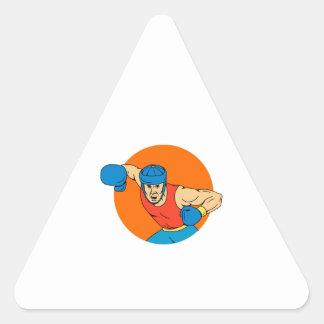 Adesivo Triangular Desenho aéreo do círculo do perfurador do