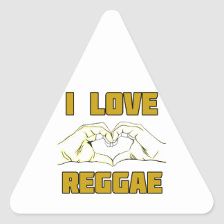 Adesivo Triangular design da reggae