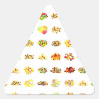 Adesivo Triangular Doces e fundo sem emenda do teste padrão dos doces