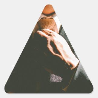 Adesivo Triangular Efeito de sombra do laço do homem de negócios do