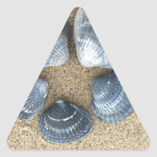 Adesivo Triangular Escudos azuis