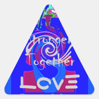 Adesivo Triangular Espírito do presidente Forte Junto de Hillary EUA