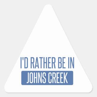 Adesivo Triangular Eu preferencialmente estaria na angra de Johns
