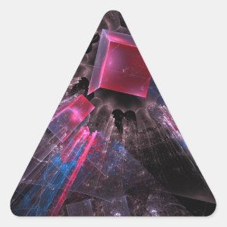 Adesivo Triangular Fractal preto