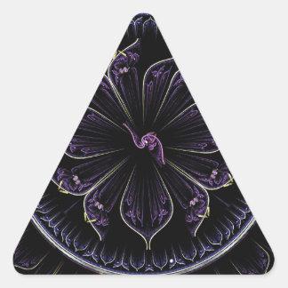 Adesivo Triangular fractal roxo escuro