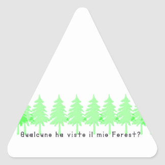Adesivo Triangular Italiano-Forrest