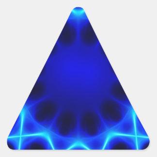 Adesivo Triangular laser azul #2