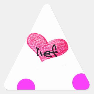 Adesivo Triangular Língua do holandês sul-africano do design do amor