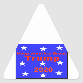 Adesivo Triangular Mantenha o slogan político do trunfo 2020 do