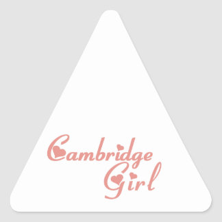 Adesivo Triangular Menina de Cambridge