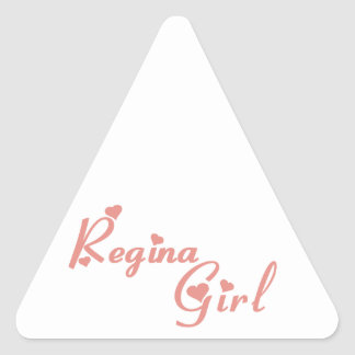 Adesivo Triangular Menina de Regina
