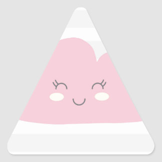 Adesivo Triangular nuvem