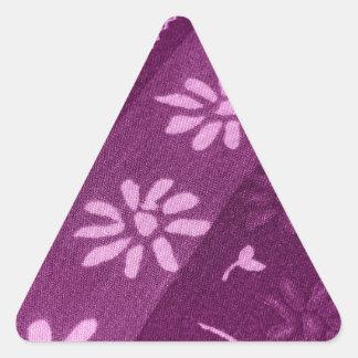 Adesivo Triangular Partido de chá cor-de-rosa roxo das videiras das