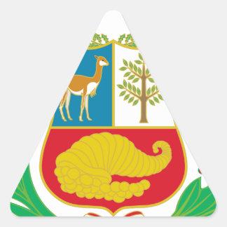 Adesivo Triangular Peru - escudo Nacional (emblema nacional)