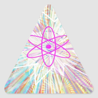 Adesivo Triangular Poder da alma: Design artístico da energia solar