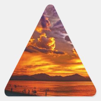 Adesivo Triangular Praia