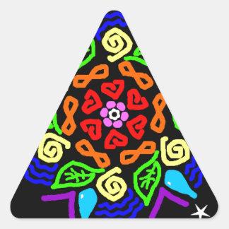 Adesivo Triangular Presença amado