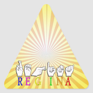ADESIVO TRIANGULAR REGINA NAMESIGN ASL FINGERSPELLED