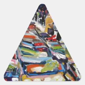 Adesivo Triangular rua Dublin de moore da alface de iceberg