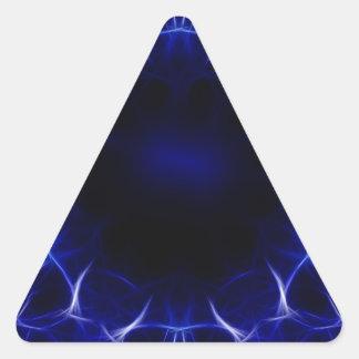 Adesivo Triangular teste padrão roxo do laser