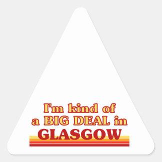 Adesivo Triangular Tipo de I´m de uma grande coisa em Glasgow