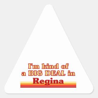 Adesivo Triangular Tipo de I'm de uma grande coisa em Regina
