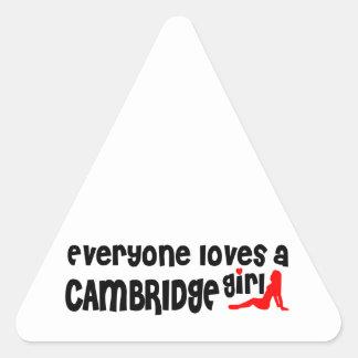 Adesivo Triangular Todos ama uma menina de Cambridge