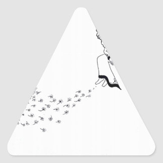 Adesivo Triangular Vista para fora