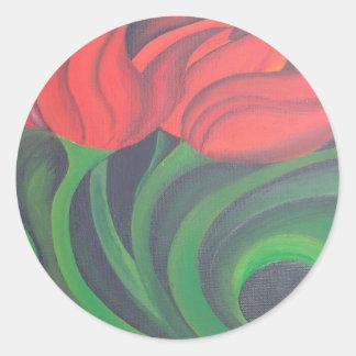 Adesivo Tulipa vermelha (painel esquerdo)