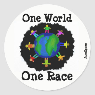 Adesivo Um mundo, uma raça
