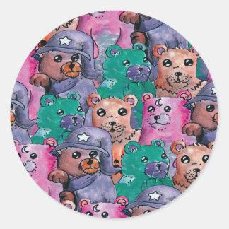 Adesivo ursos de pelucia magicos