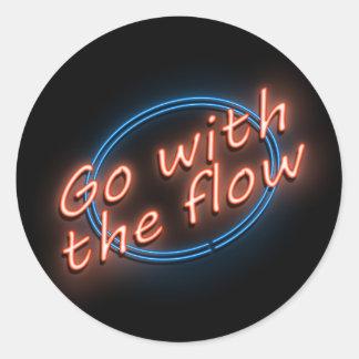 Adesivo Vá com o fluxo