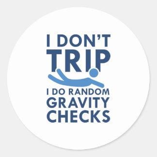 Adesivo Verificações da gravidade