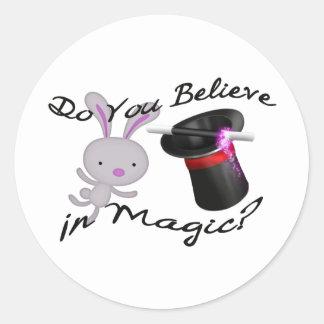 Adesivo Você acredita no chapéu alto & no coelho mágicos