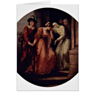 Adeus de Abelard Heloise por Angelika Kauffmann Cartão Comemorativo