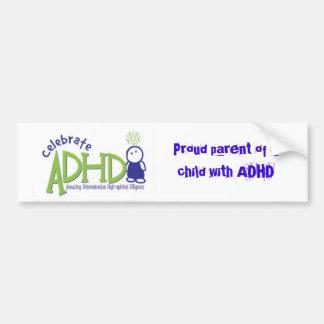 adhd, pai orgulhoso de uma criança com ADHD Adesivo Para Carro