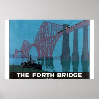 Adiante o poster de viagens de Bridge_Vintage Pôster
