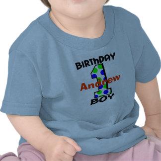 Adicione a camisa conhecida do menino do aniversár tshirt