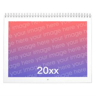 Adicione calendários impressos costume da foto