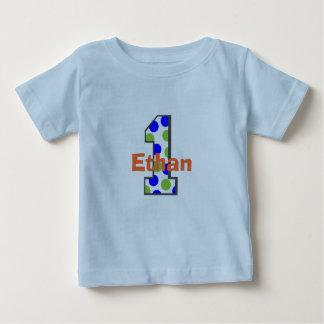 Adicione camisa do menino do aniversário do nome tshirts