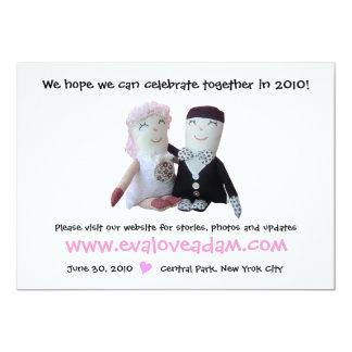Adicione o convite do casamento da boneca da foto