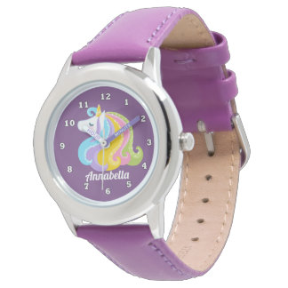 Adicione o relógio mágico do unicórnio das meninas