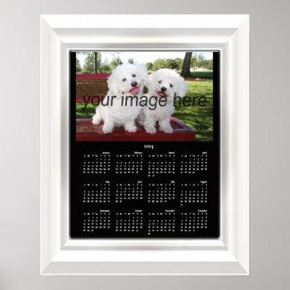 Adicione seu poster do calendário da foto 2014