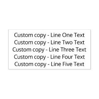 Adicione seu texto favorito - cinco linhas Sans Carimbo Auto Entintado