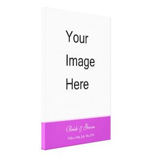 Adicione sua cópia das canvas da foto do casamento