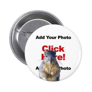 Adicione um botão feito sob encomenda da foto do e botons