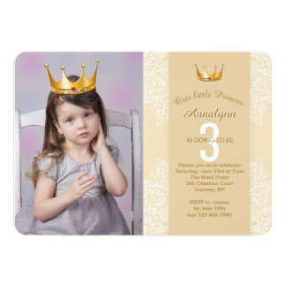 Adicione um convite da princesa Coroa Seu Foto