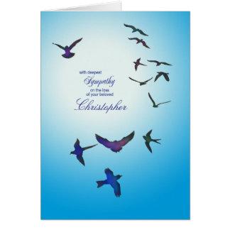 Adicione um nome, cartão de simpatia, pássaros de