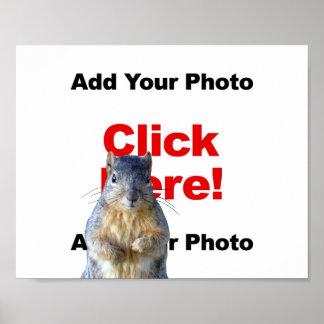 Adicione um poster feito sob encomenda da foto do
